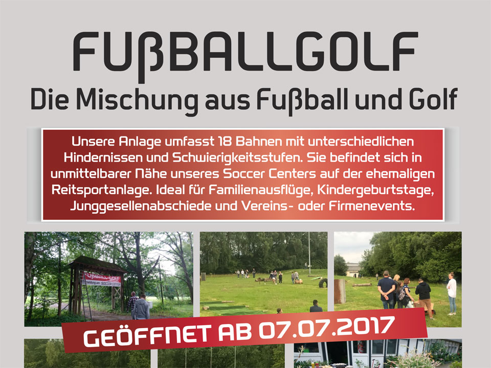 Soccer-Center Fußballgolf-Flyer